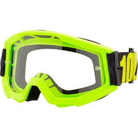 100% Strata Anti Fog Clear Goggles Jongeren, neon yellow